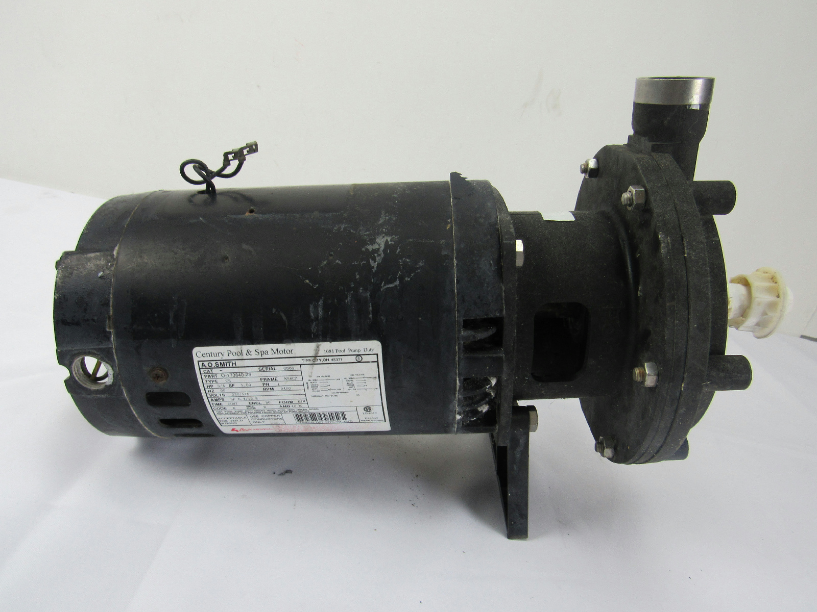 Century Pool Spa Motor 1081 Pool Pump Duty For Parts