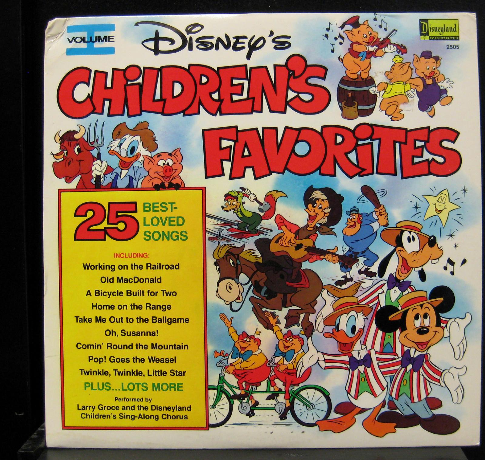 Walt Disney's Children's Favorites Vol 1 LP Mint- 2505 W