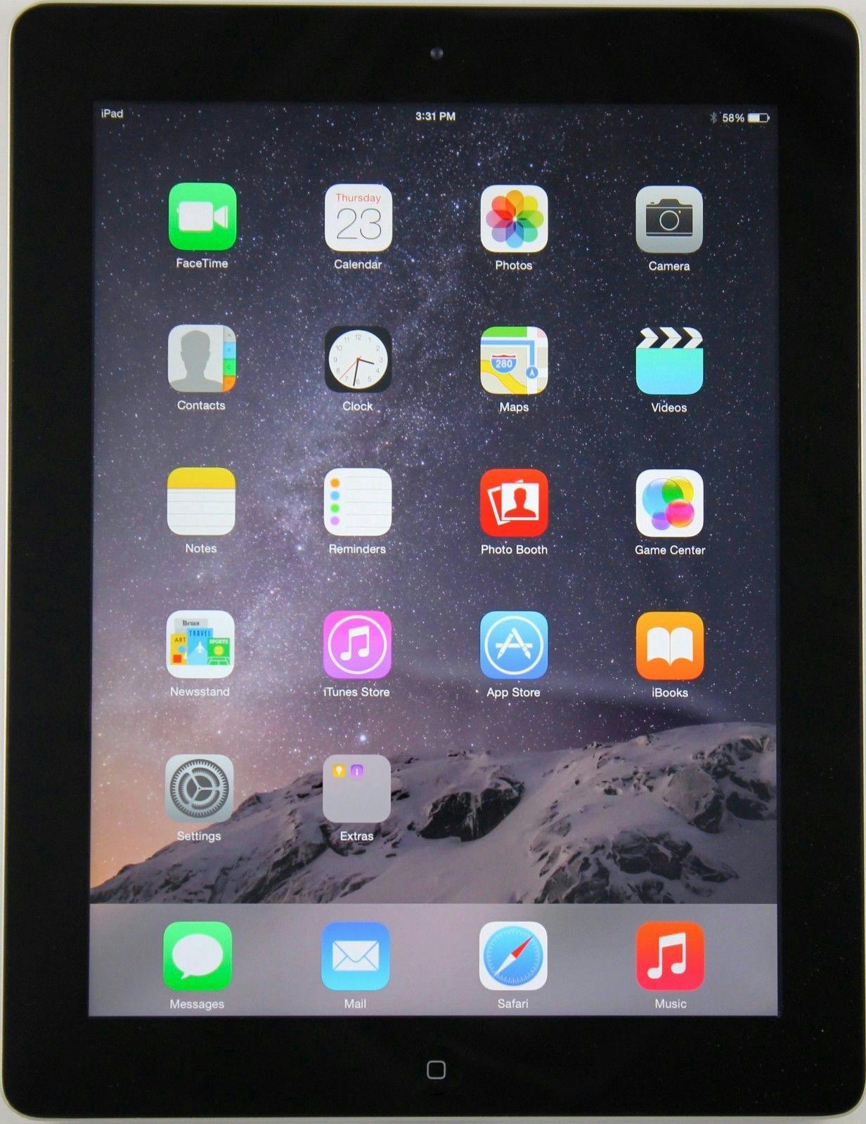apple ipad 2 16gb tablet wi fi black mc769ll a 2nd. Black Bedroom Furniture Sets. Home Design Ideas