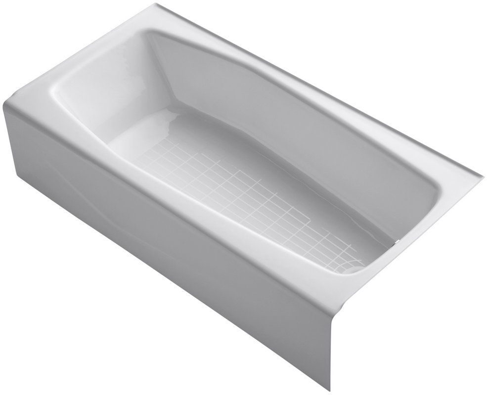 pallet kohler villager cast iron rectangular skirted bathtub w right