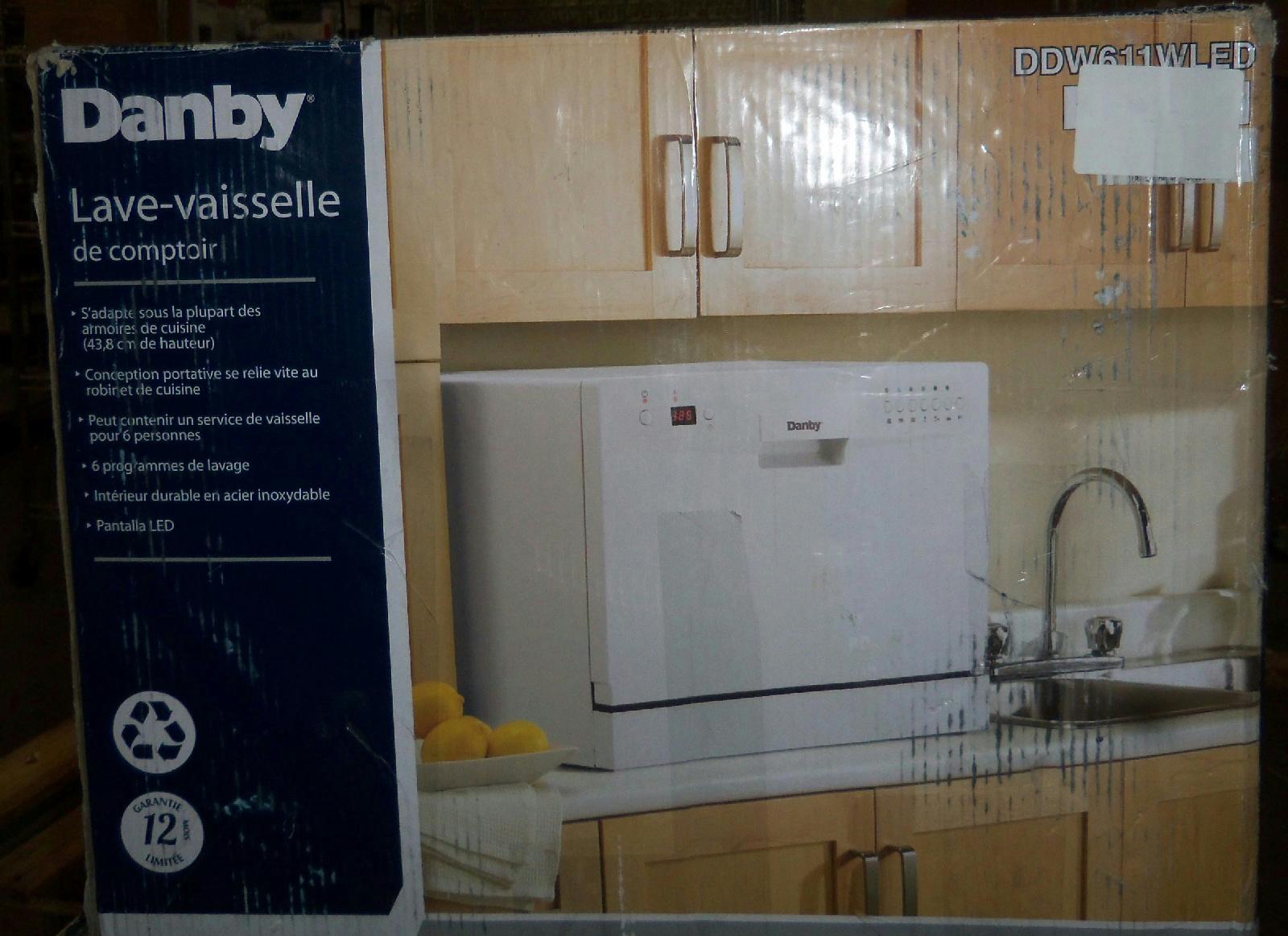 ... BOX Danby DDW611WLED Countertop Dishwasher 50x54.9x43.8 cm $340 - READ