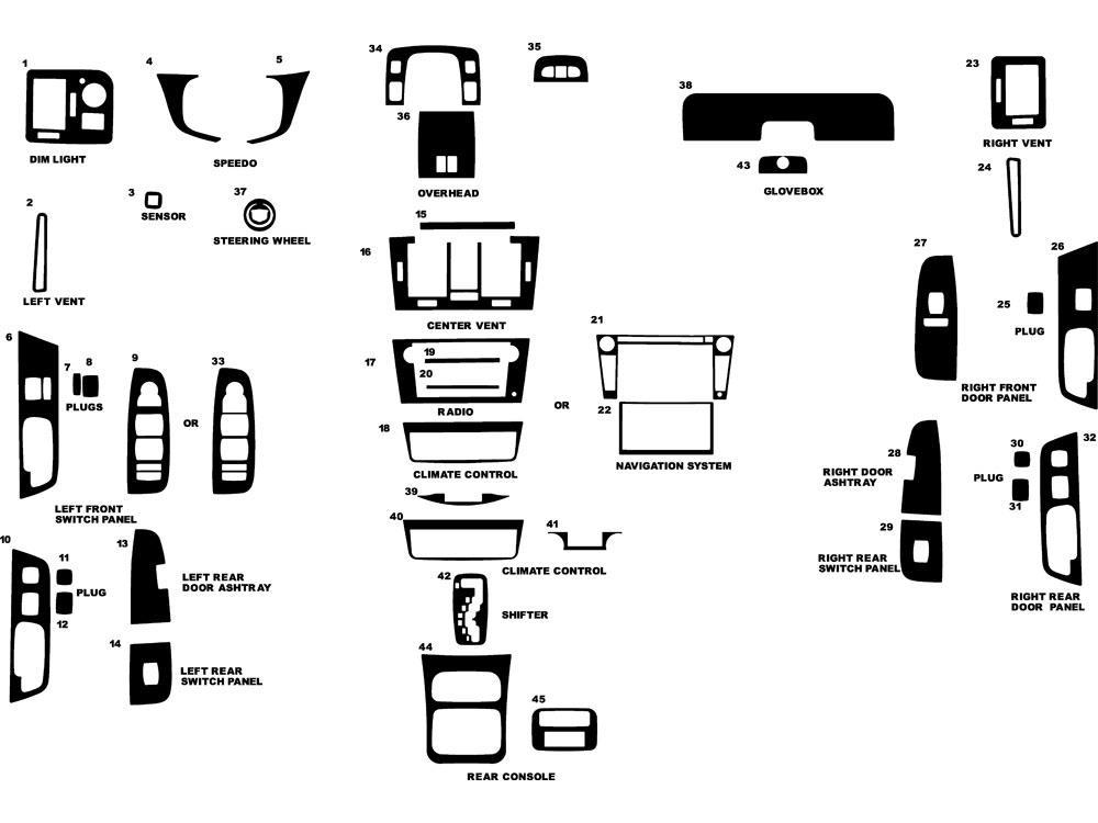 Rdash Dash Kit For Cadillac Dts 2006