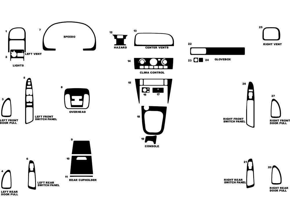 Rdash Dash Kit For Volvo S40    V40 2002