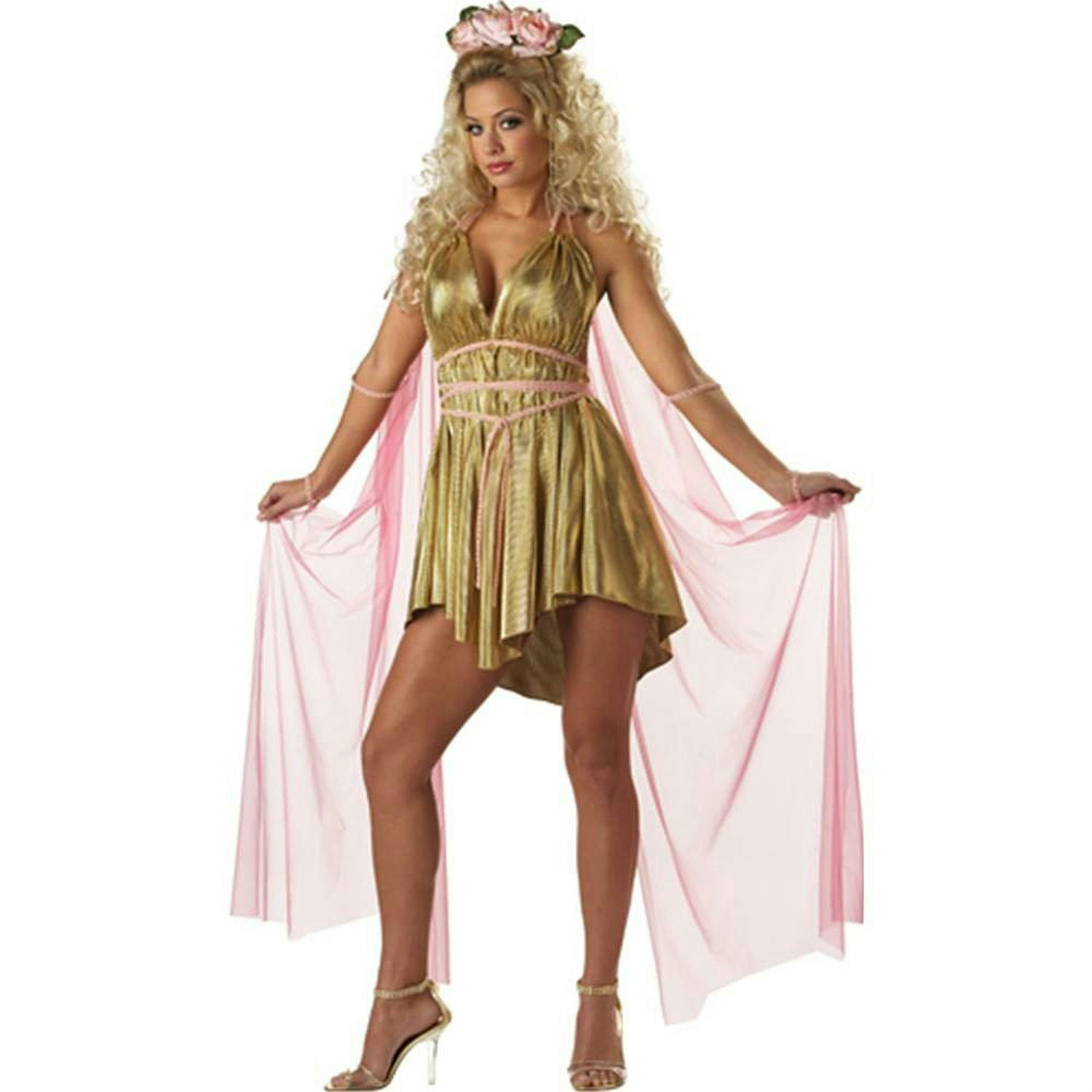 Gold Aphrodite Goddess of Love Greek Adult Sexy Costume ...Greek Goddess Aphrodite With Clothes