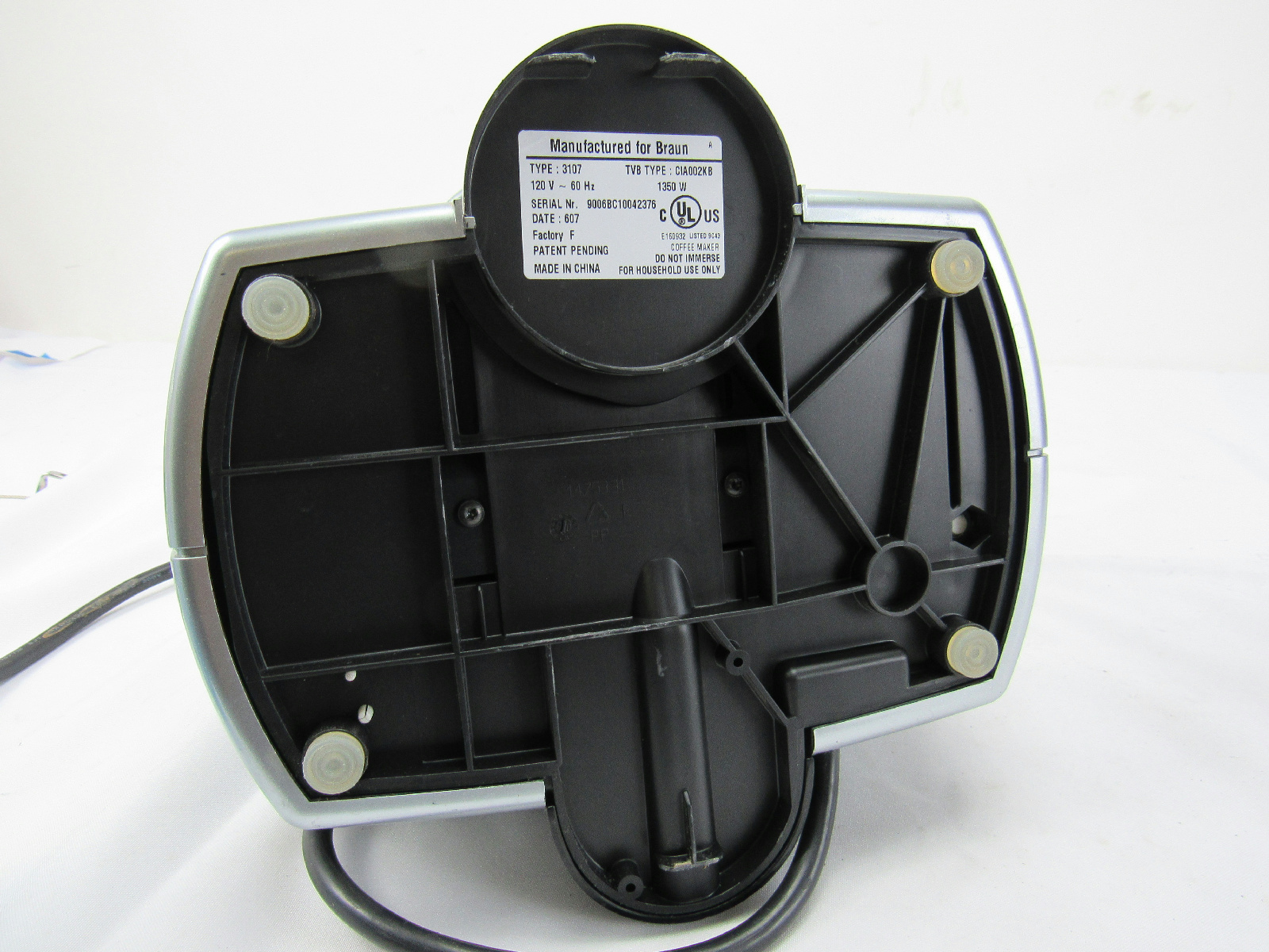 Braun Tassimo Coffee Maker Parts : Braun Tassimo Type 3107 Single Serve T Disc Coffee Maker Base Only eBay