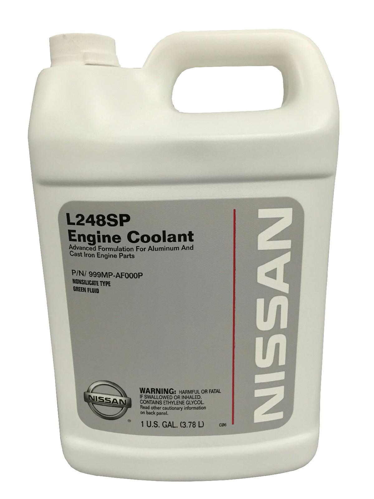 genuine nissan l248sp green antifreeze coolant 999mp af000p 1