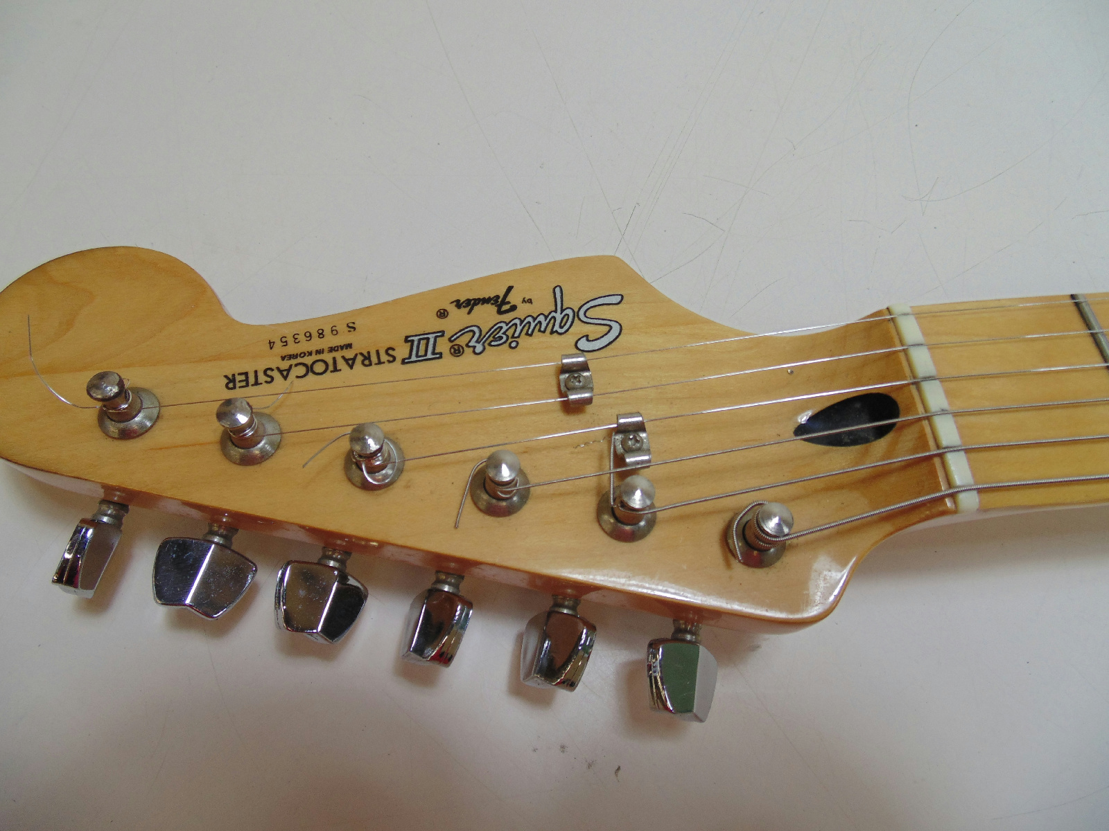 squier by fender strat stratocaster ii cream white electric guitar for repair ebay. Black Bedroom Furniture Sets. Home Design Ideas
