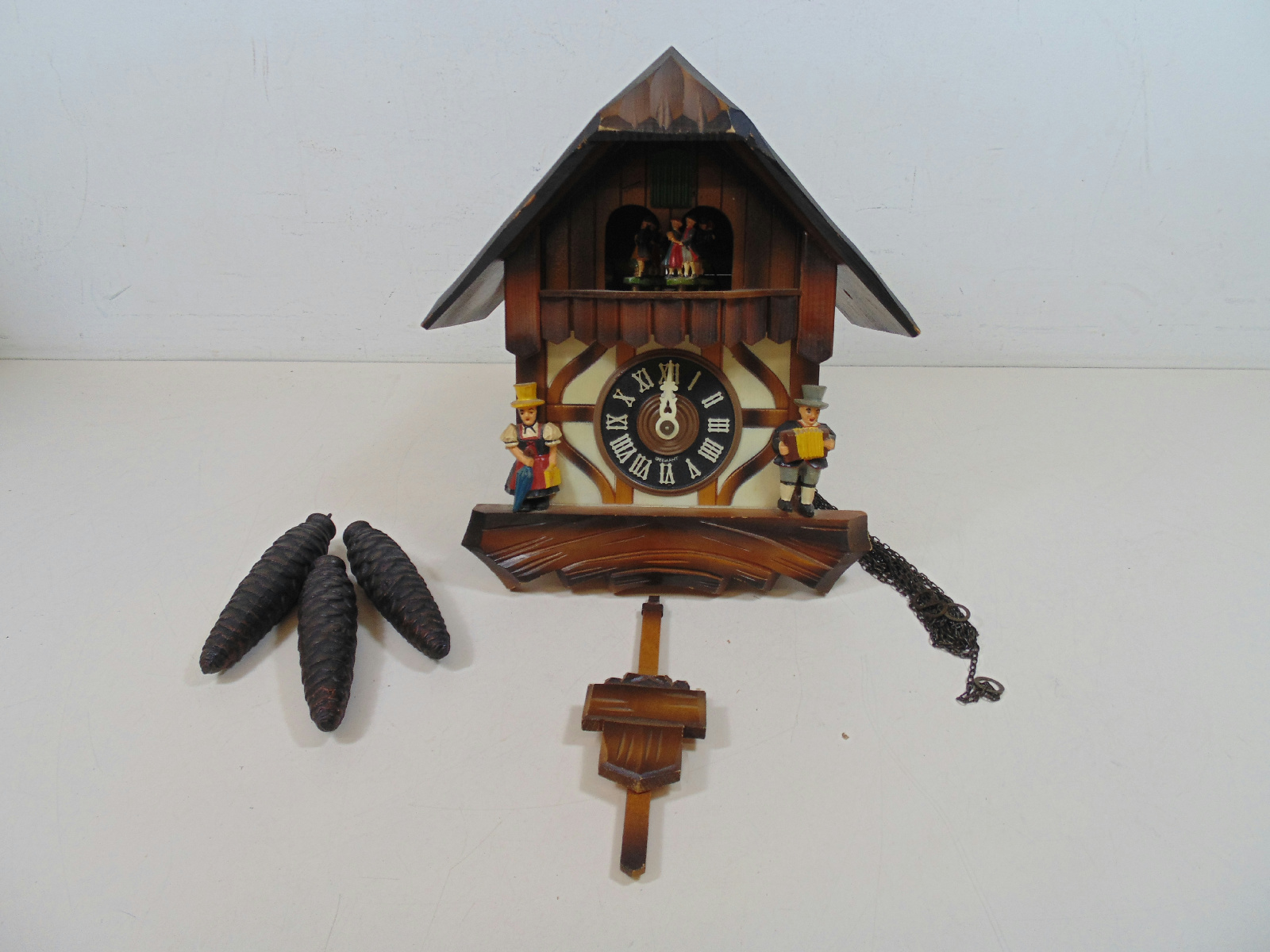 Germany cuckoo clock w weights pendulum ebay - Cuckoo bird clock sound ...