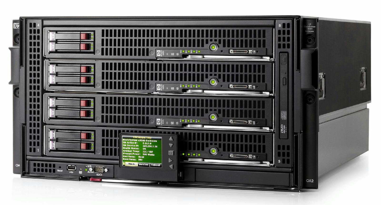 Hp Bladesystem C300 Enclosure 508668 B21 6x1200w Power