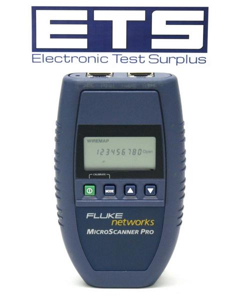 Fluke Cable Tester : Fluke networks microscanner pro network cable tester ebay