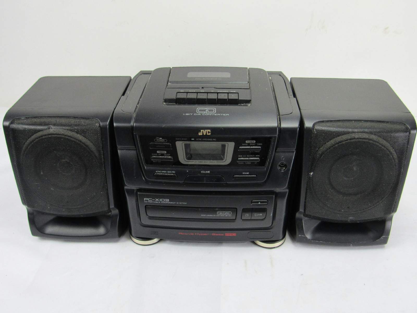 Jvc pc x103 am fm cd and tape boombox hyper bass - Mobile porta cd ...