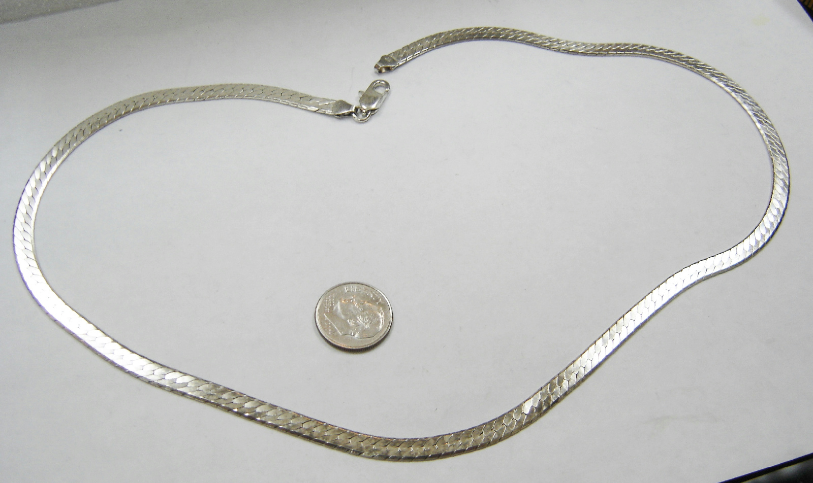 sterling silver herringbone flat chain 20 5 inch necklace