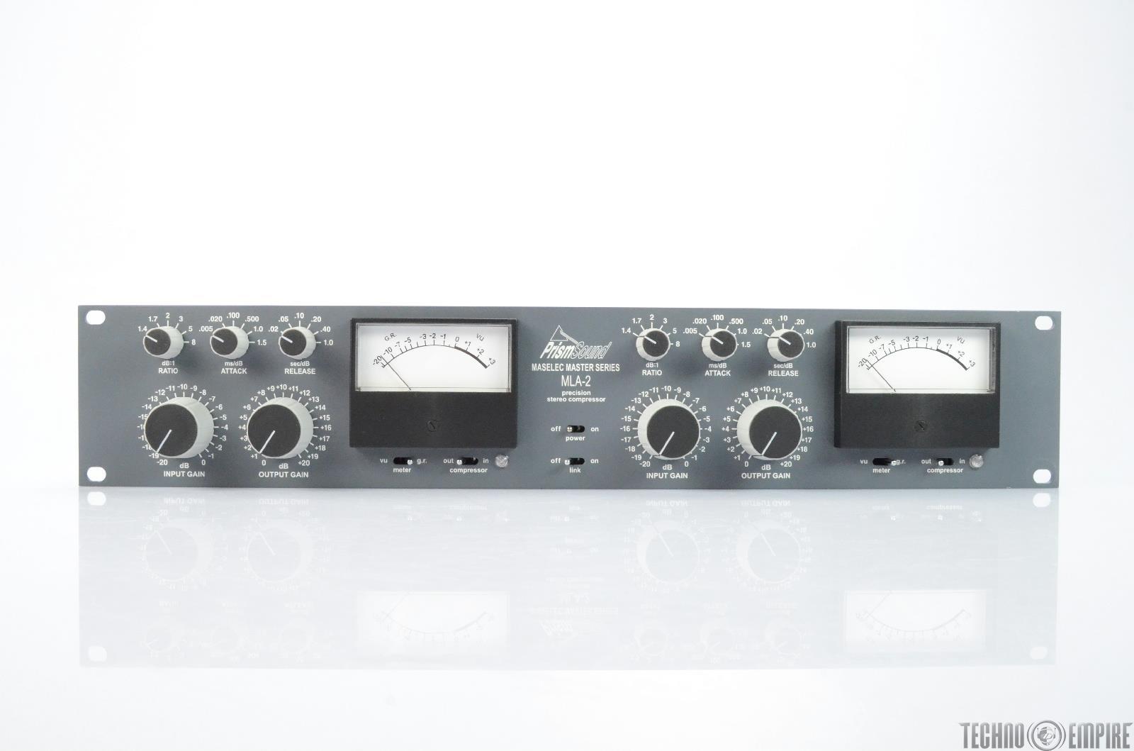 PRISM SOUND MLA-2 Maselec Master Series Precision Stereo Compressor #25714