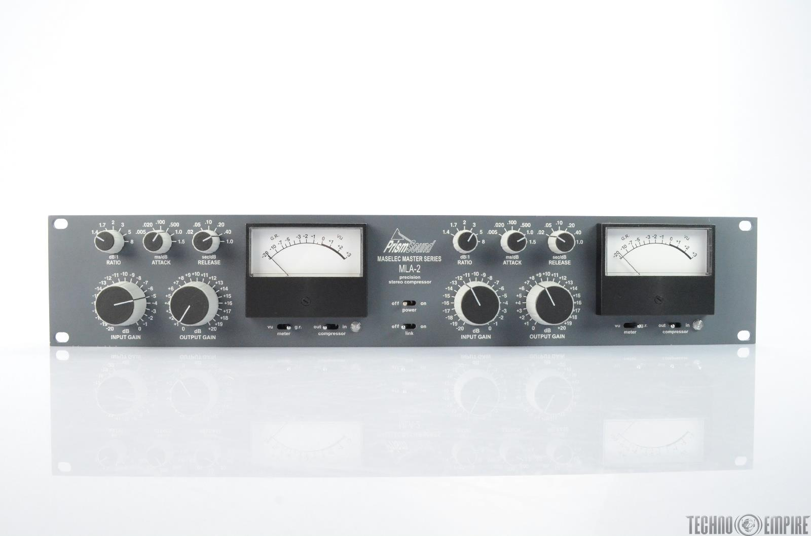 PRISM SOUND MLA-2 Maselec Master Series Precision Stereo Compressor #25713