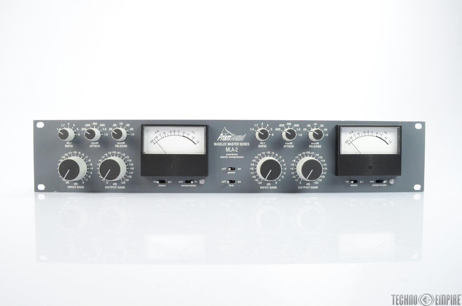 PRISM SOUND MLA-2 Maselec Master Series Precision Stereo Compressor #25707