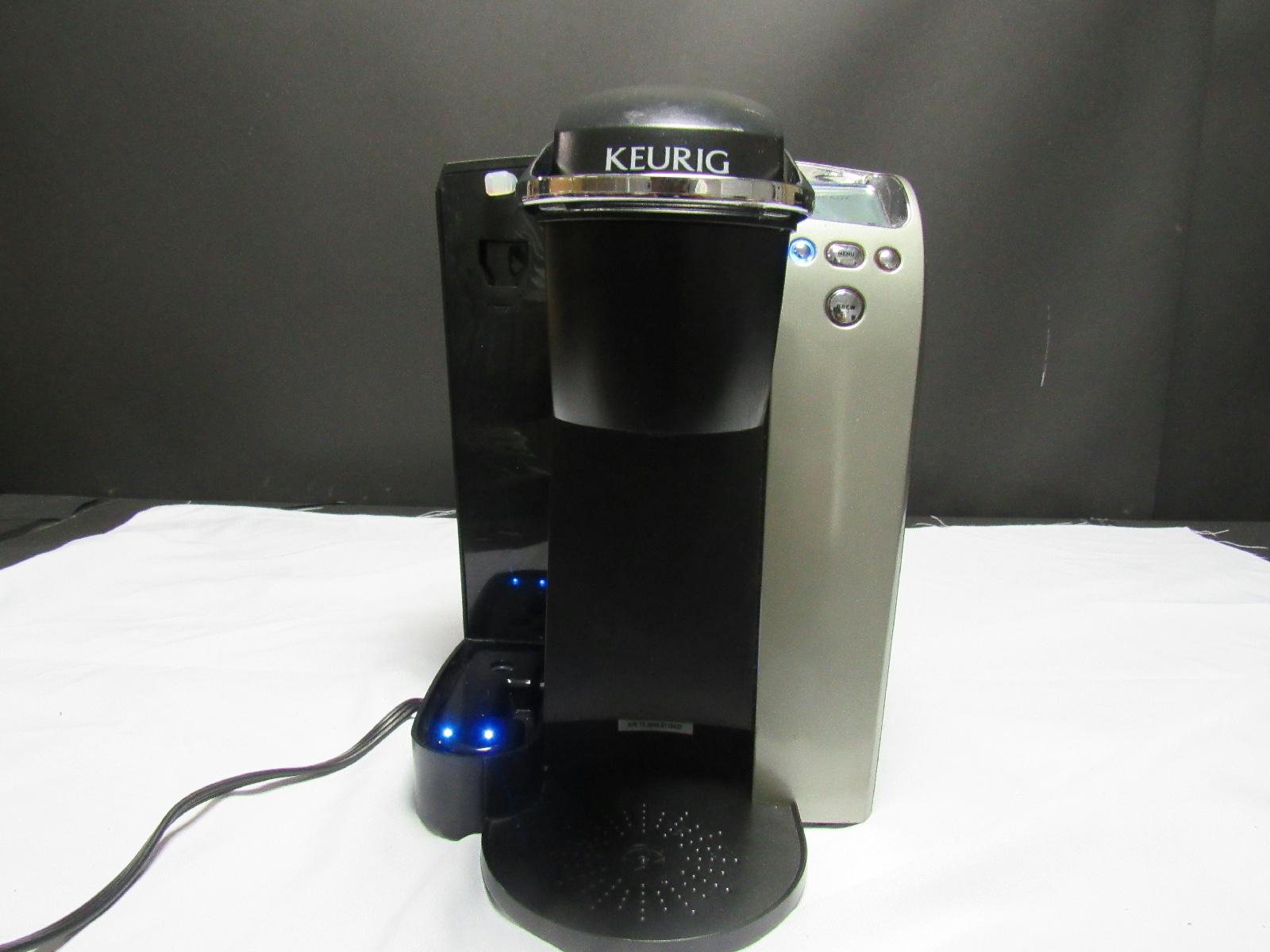 keurig b70 platinum k cup brewing system coffee maker black silver ebay. Black Bedroom Furniture Sets. Home Design Ideas