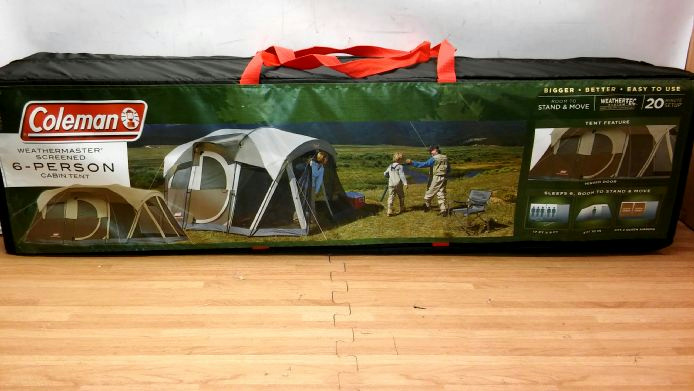 coleman weathermaster 6 person screened tent instructions