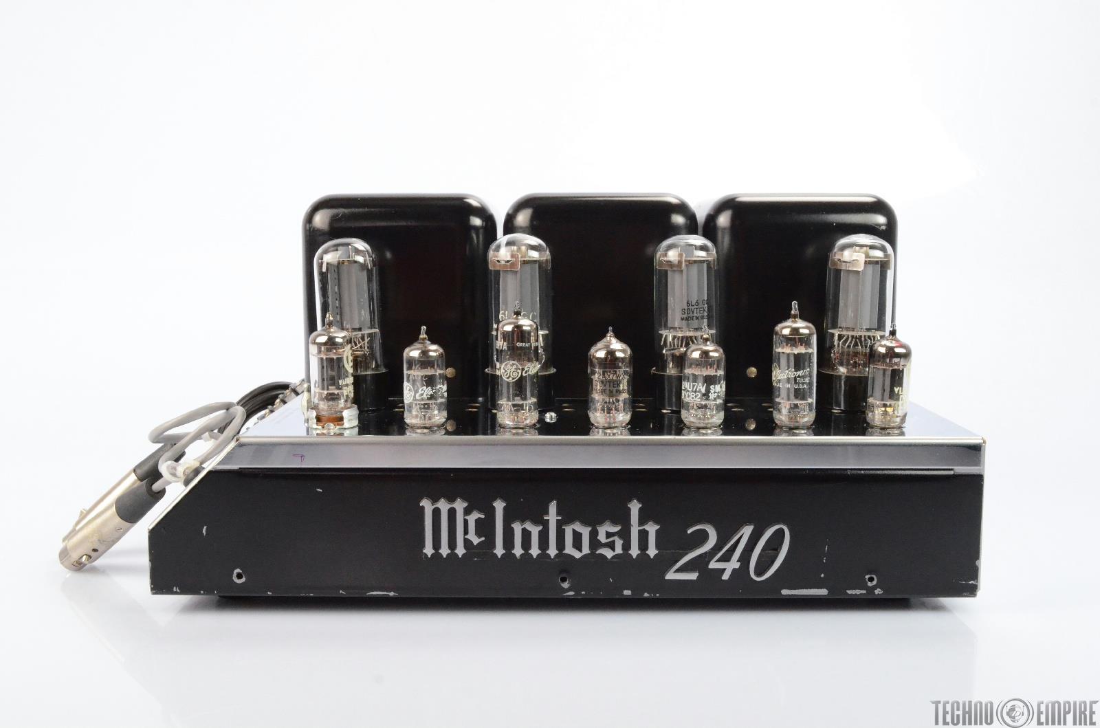 McIntosh MC240 Tube Power Amplifier XLR Balanced VERY CLEAN #25848