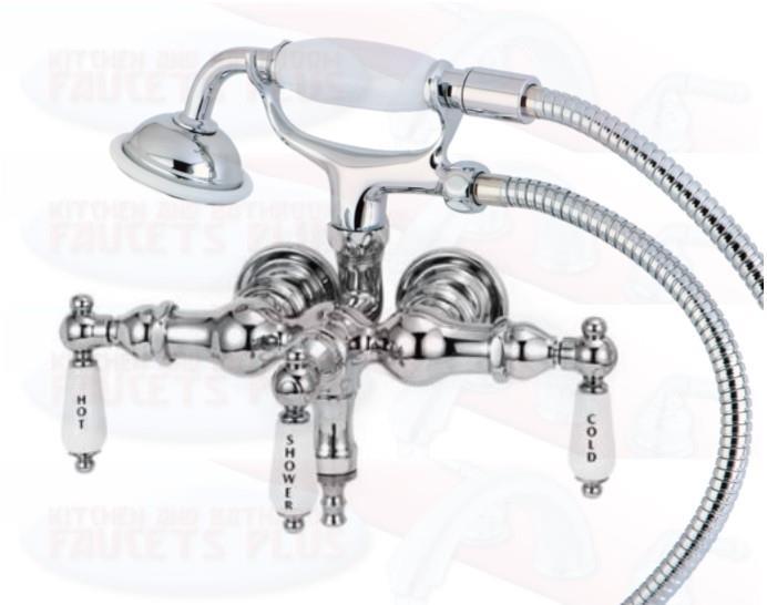 3 3 8 Quot Tub Mount Chrome Clawfoot Bathtub Faucet With Hose