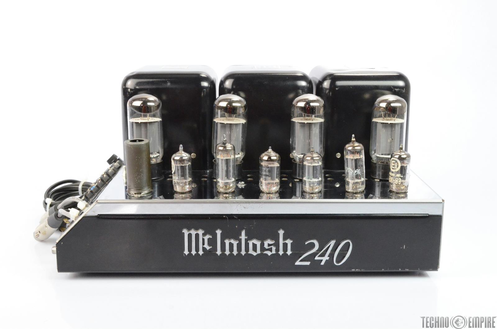 McIntosh MC240 Tube Power Amplifier XLR Balanced VERY CLEAN #25843
