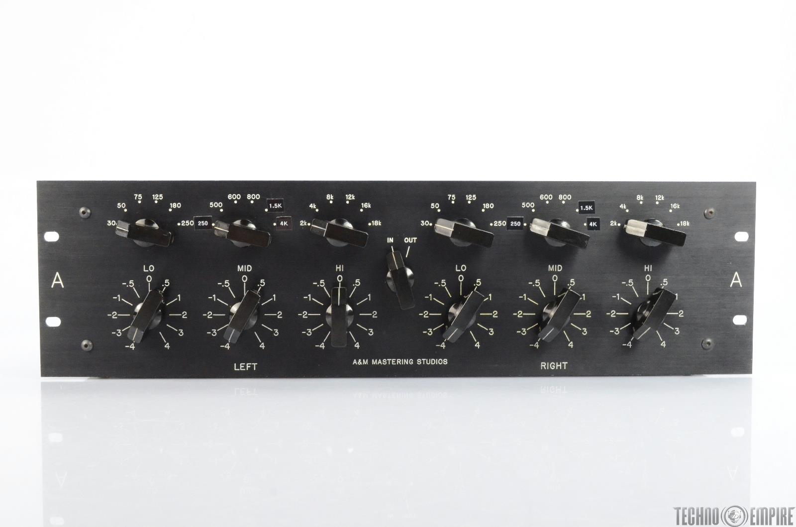 A&M Mastering Studios 3-Band Stereo Parametric Equalizer EQ w/ Pultec #25735