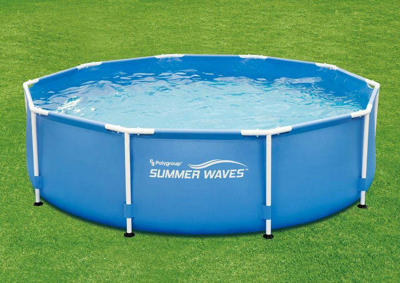 Summer waves 10 39 x 30 round metal frame above ground swimming pool p20010300138 ebay for Steel above ground swimming pools