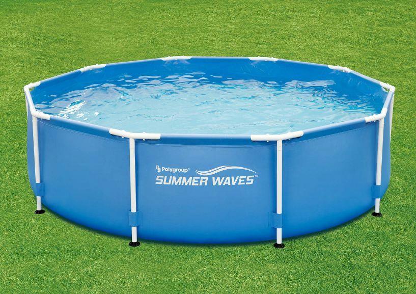 Summer Waves 10 39 X 30 Round Metal Frame Above Ground Swimming Pool P20010300138 Ebay
