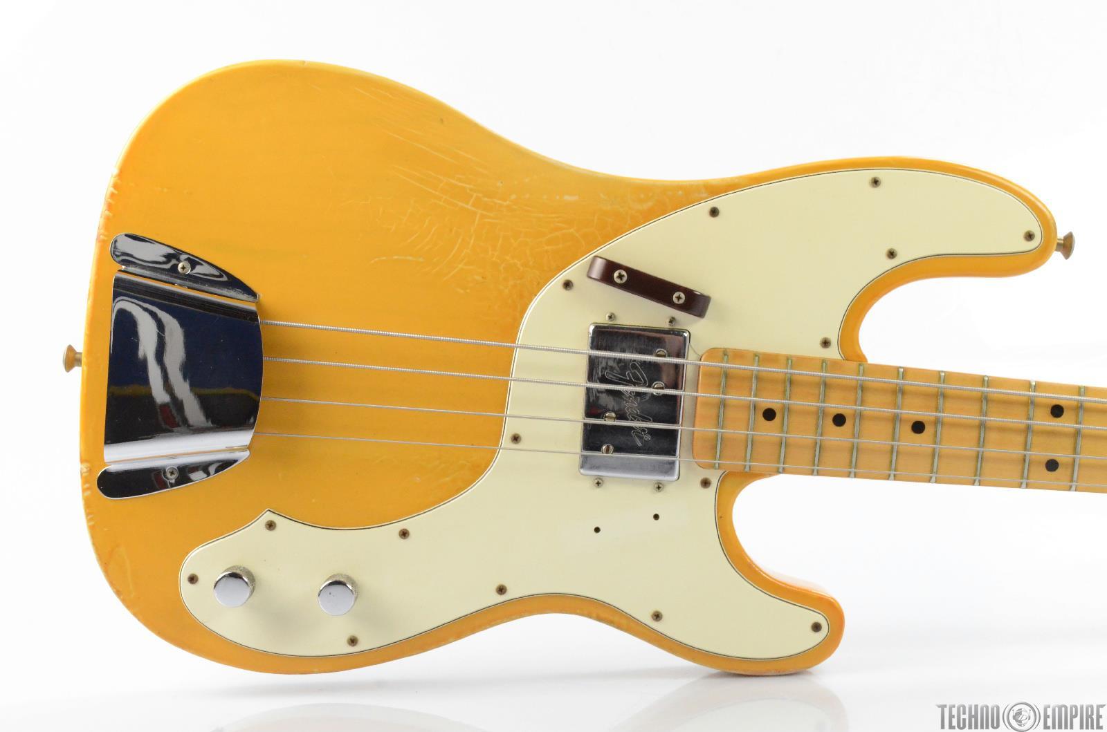 1972 Fender Telecaster Electric Bass Guitar w/ Fender Hardshell Case #25979