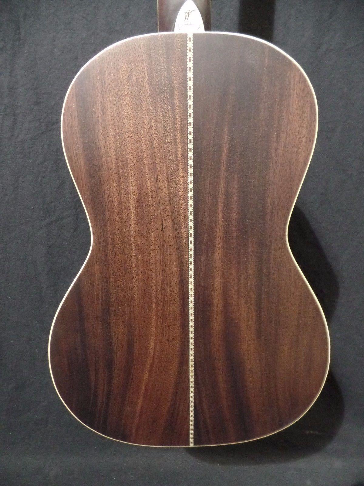 washburn r319swkk vintage parlor acoustic guitar hard shell case 0501 ebay. Black Bedroom Furniture Sets. Home Design Ideas