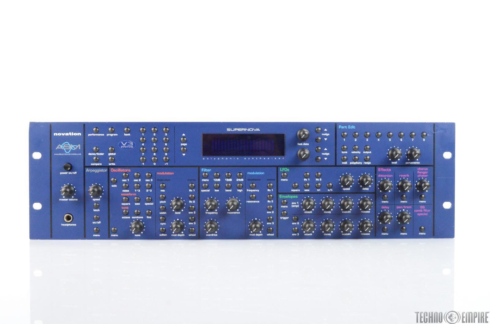 Novation Supernova Analogue Sound Modelling Synthesizer Module Rack Synth #26129