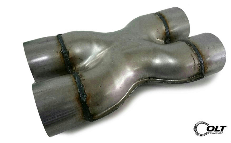 Inch crossover stamped pipe