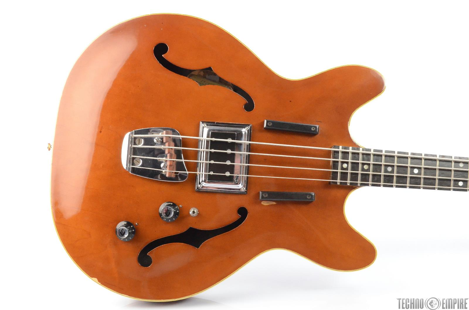 1964 Vintage Guild Starfire Semi-Hollow Electric Bass Guitar w/ Case #25967