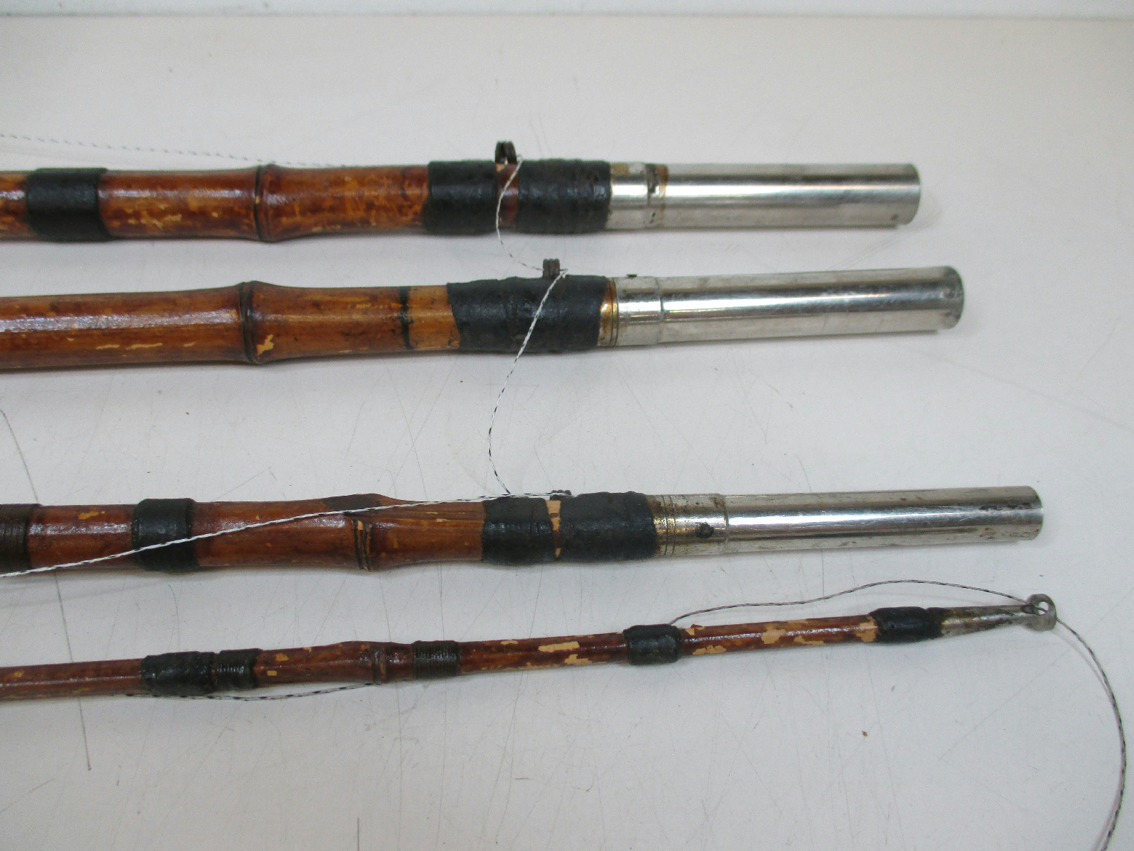 Vintage bamboo fly fishing rod with pflueger captain reel