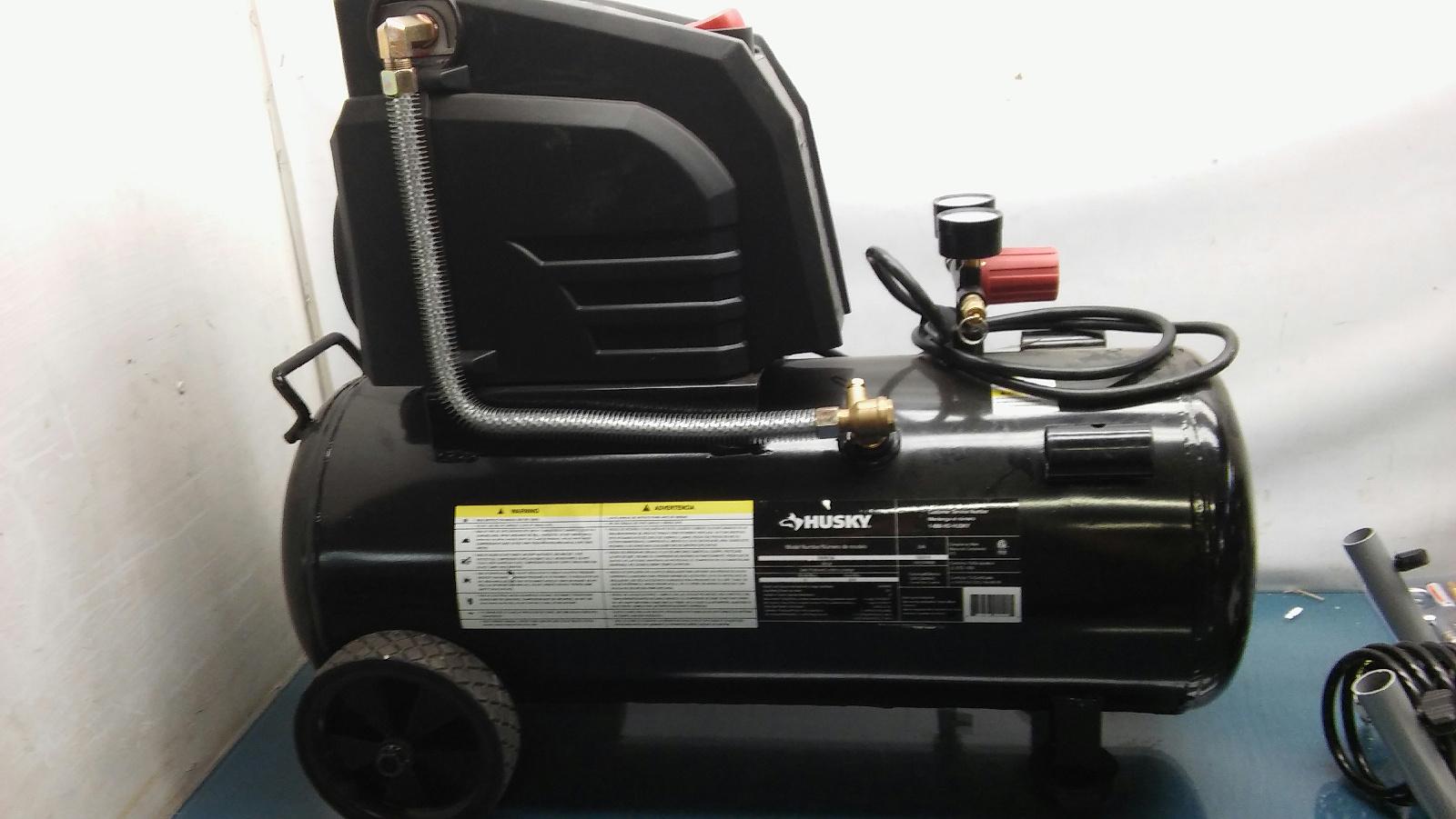 Husky 8 Gallon Oil Free Portable Air Compressor Tool Model Manual Guide