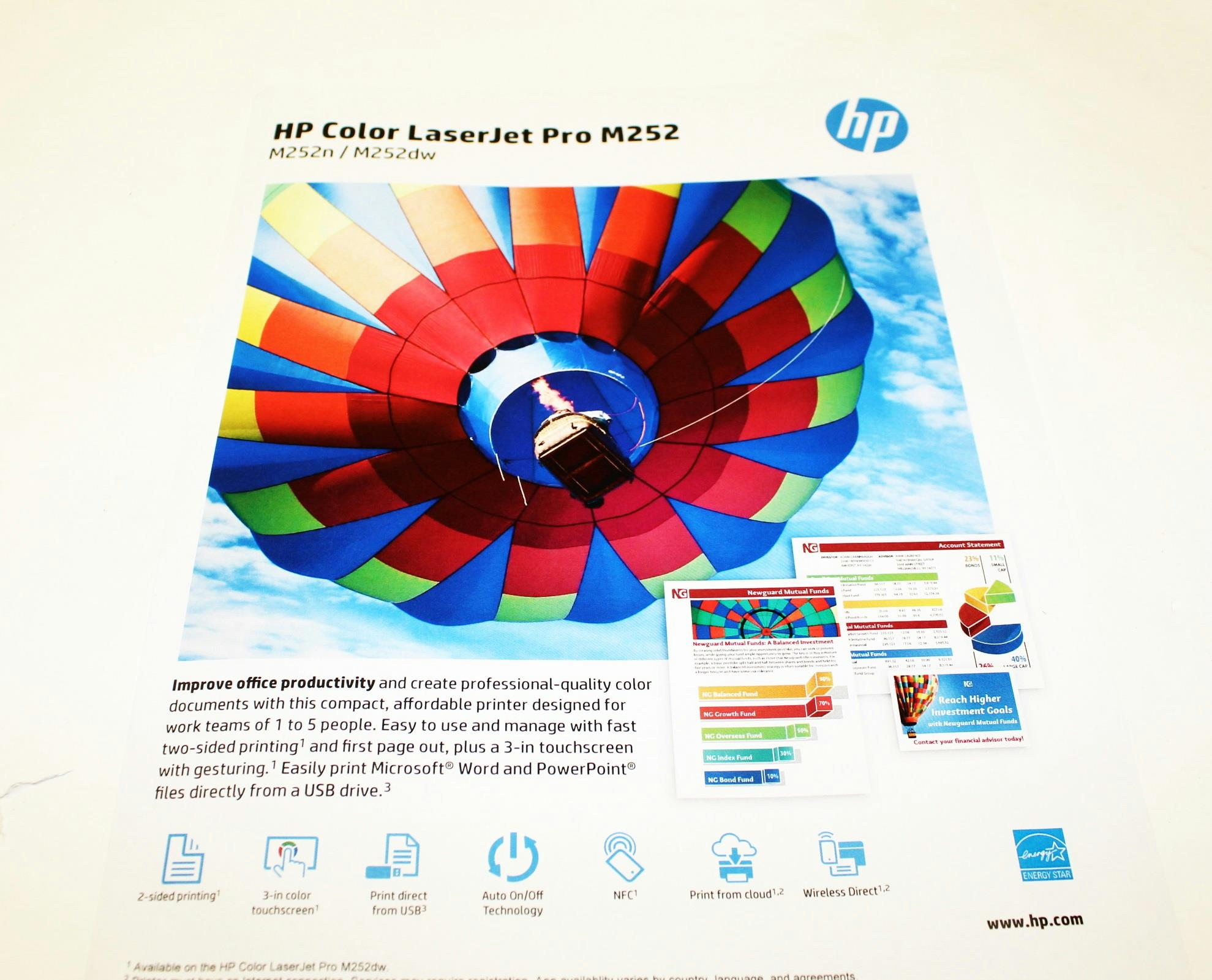 Color printing quality - Manufacturer Hp