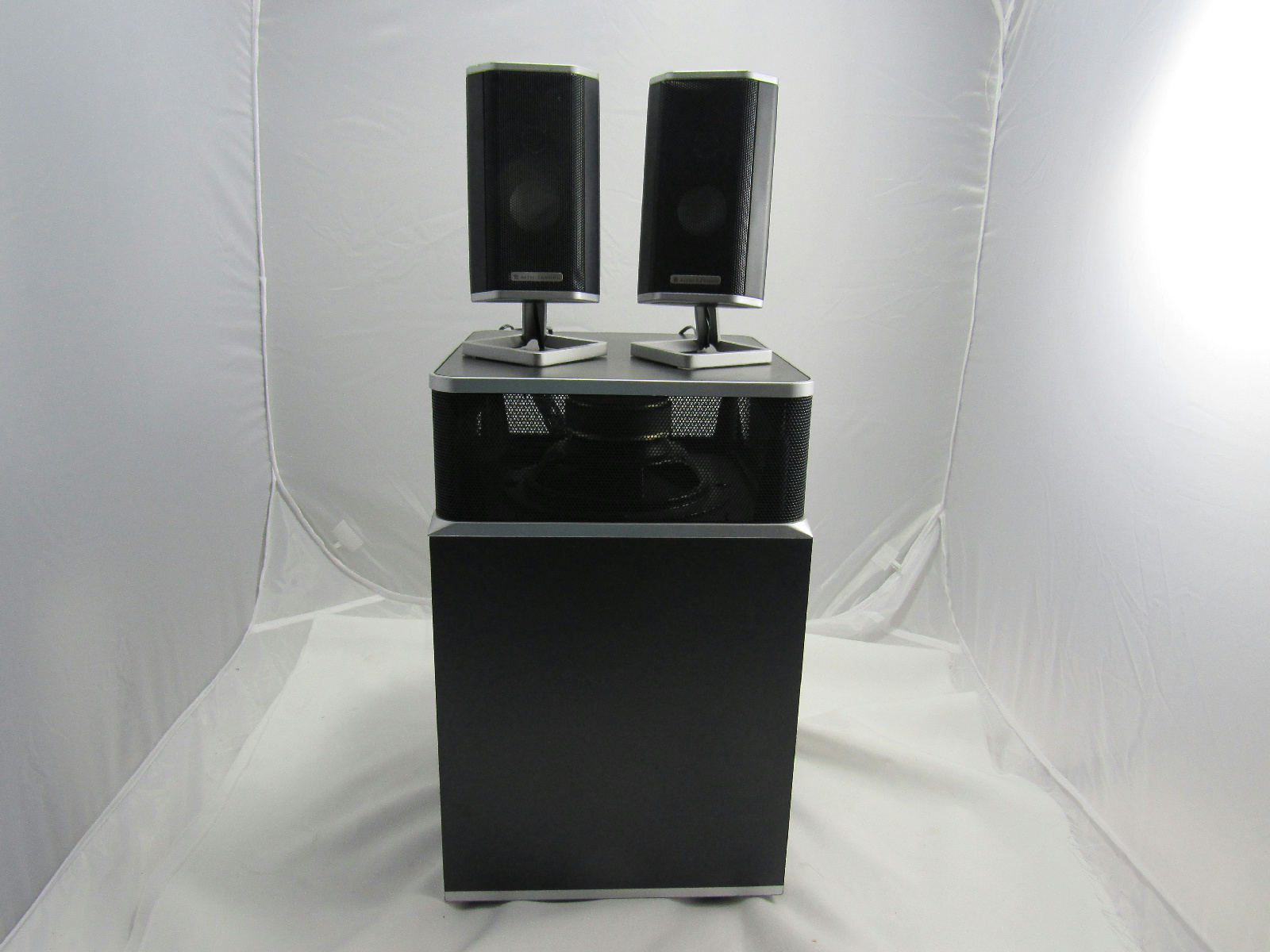 altec lansing x4021 amplified speaker system speakers and sub. Black Bedroom Furniture Sets. Home Design Ideas