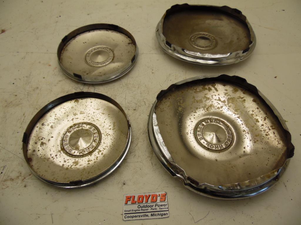 John Deere Plastic Hub Caps : John deere embossed chrome wheel cover hub cap set