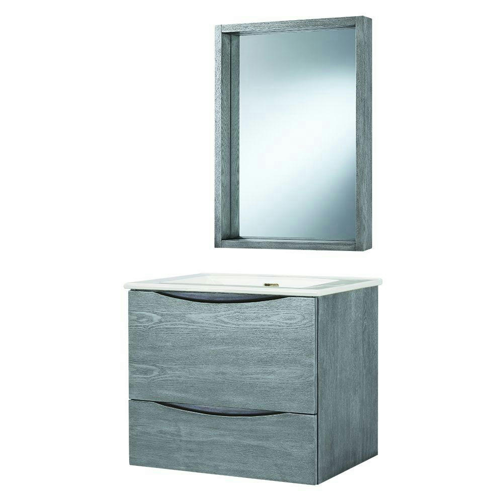 Home Decorators Collection City Foremost Loft Wall Hung Bath Vanity Combo Grey Ebay