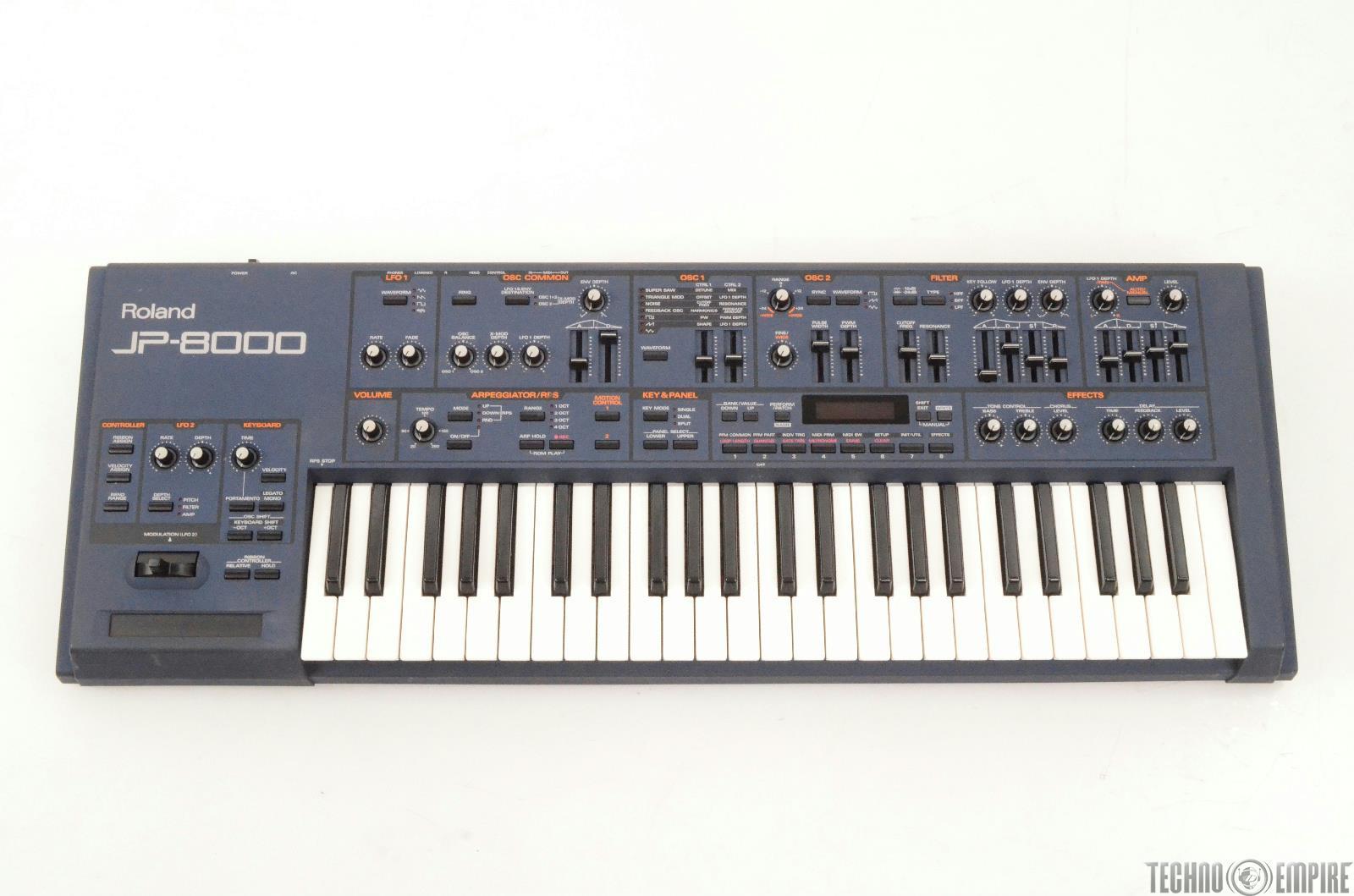 ROLAND JP-8000 Analog Modeling Synthesizer Keyboard NEEDS REPAIR #26301