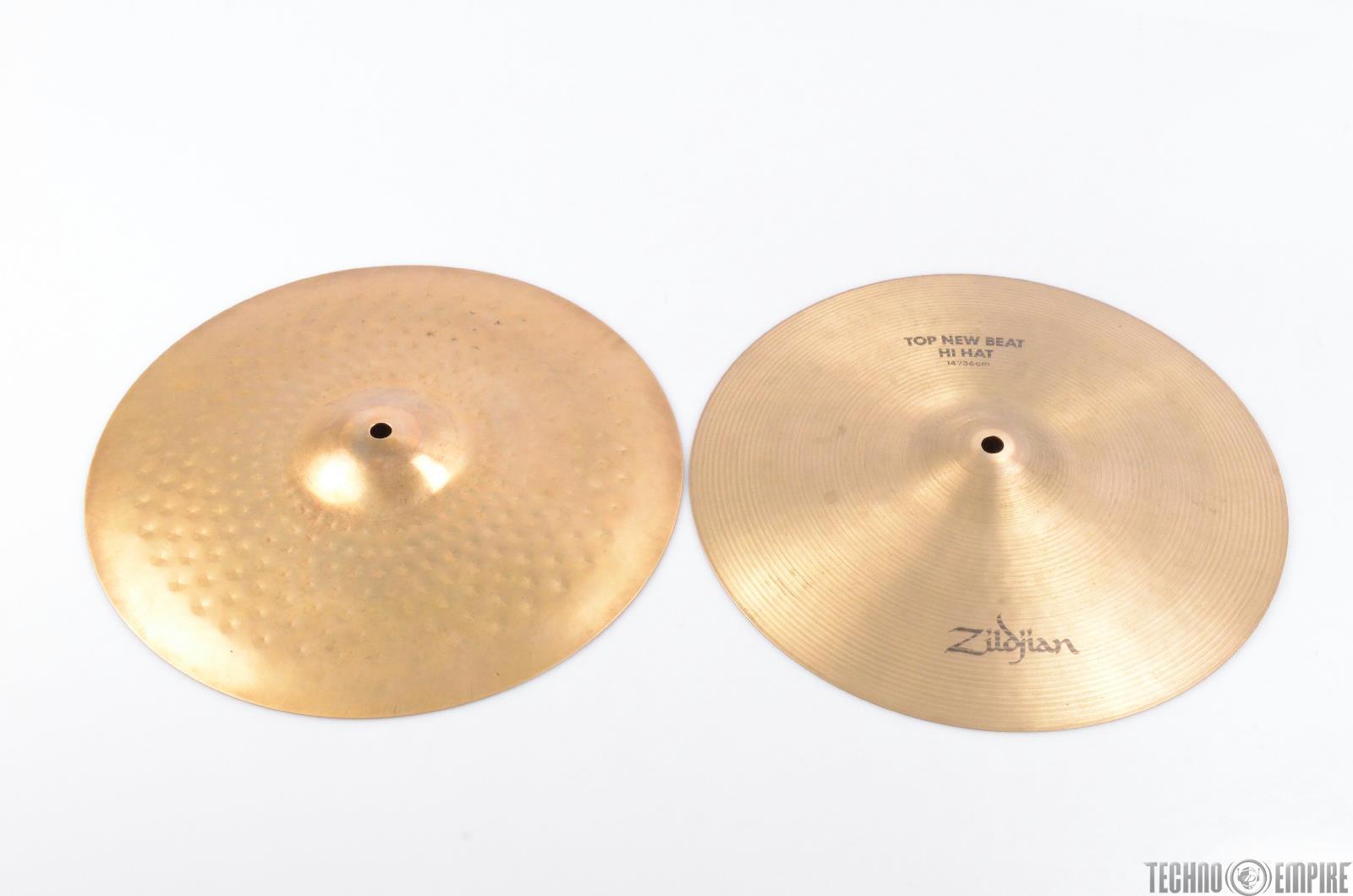 """ZILDJIAN New Beat Hi Hat 14"""" Top & Bottom Cymbal #26285"""