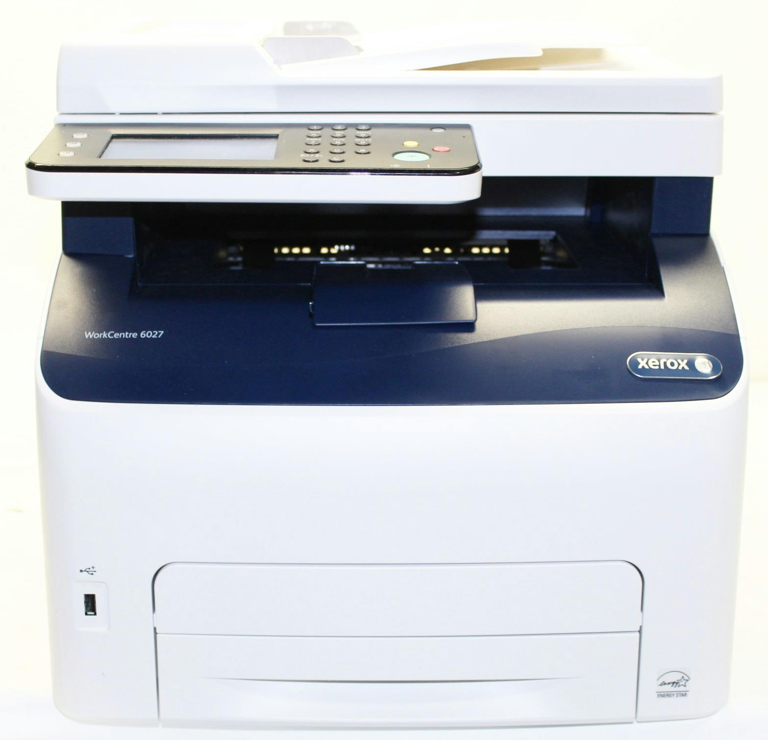 Xerox WorkCentre Multifunction Color Printer 6027 NI USB AS IS