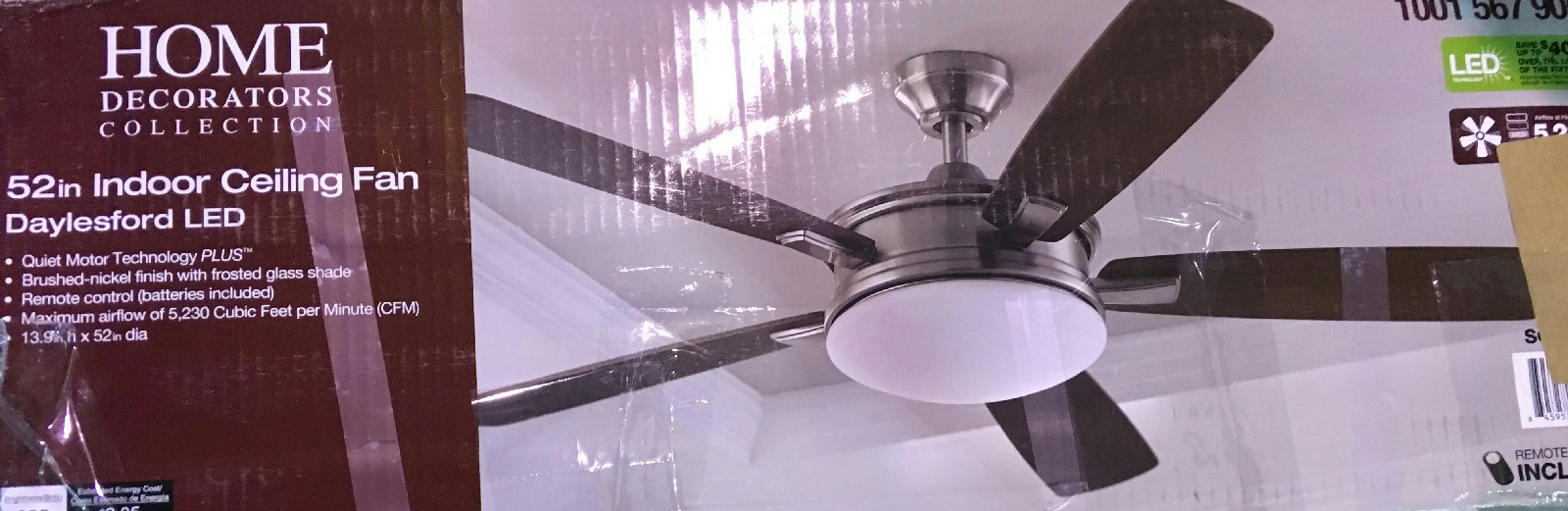 Home Decorators Collection Daylesford 52 In Led Brushed Nickel Ceiling Fan Ebay