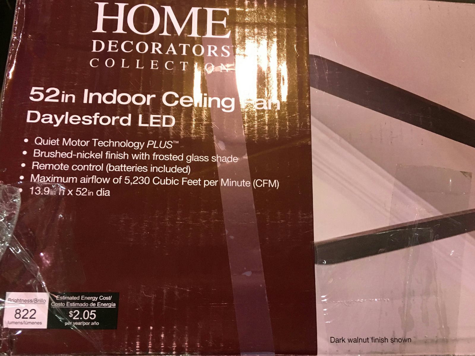 home decorators collection petersford led home decorators collection daylesford 52 in led brushed 12866