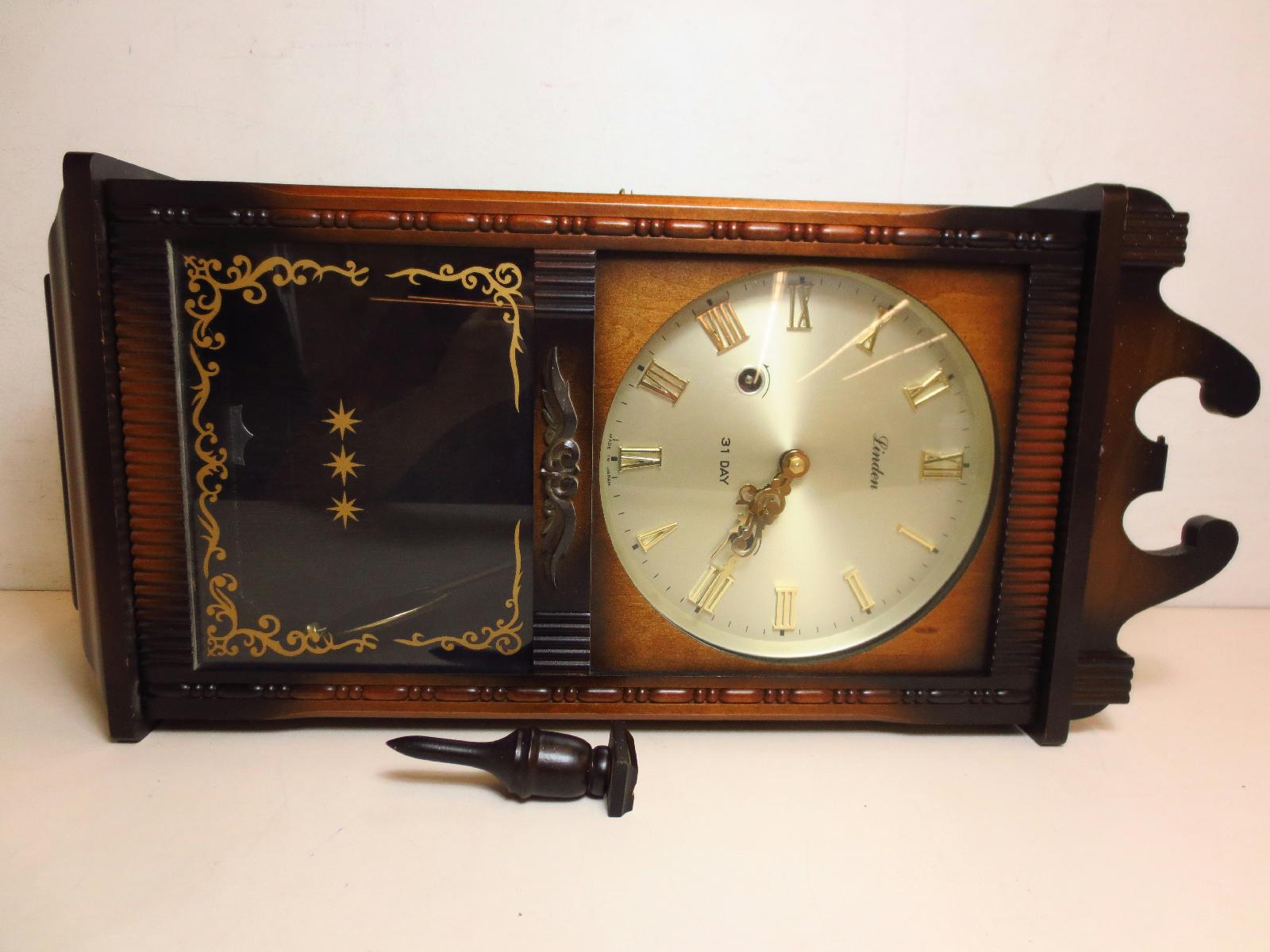 Vintage linden 31 day gong pendulum cuckoo clock wall clock for parts ebay - Cuckoo pendulum wall clock ...