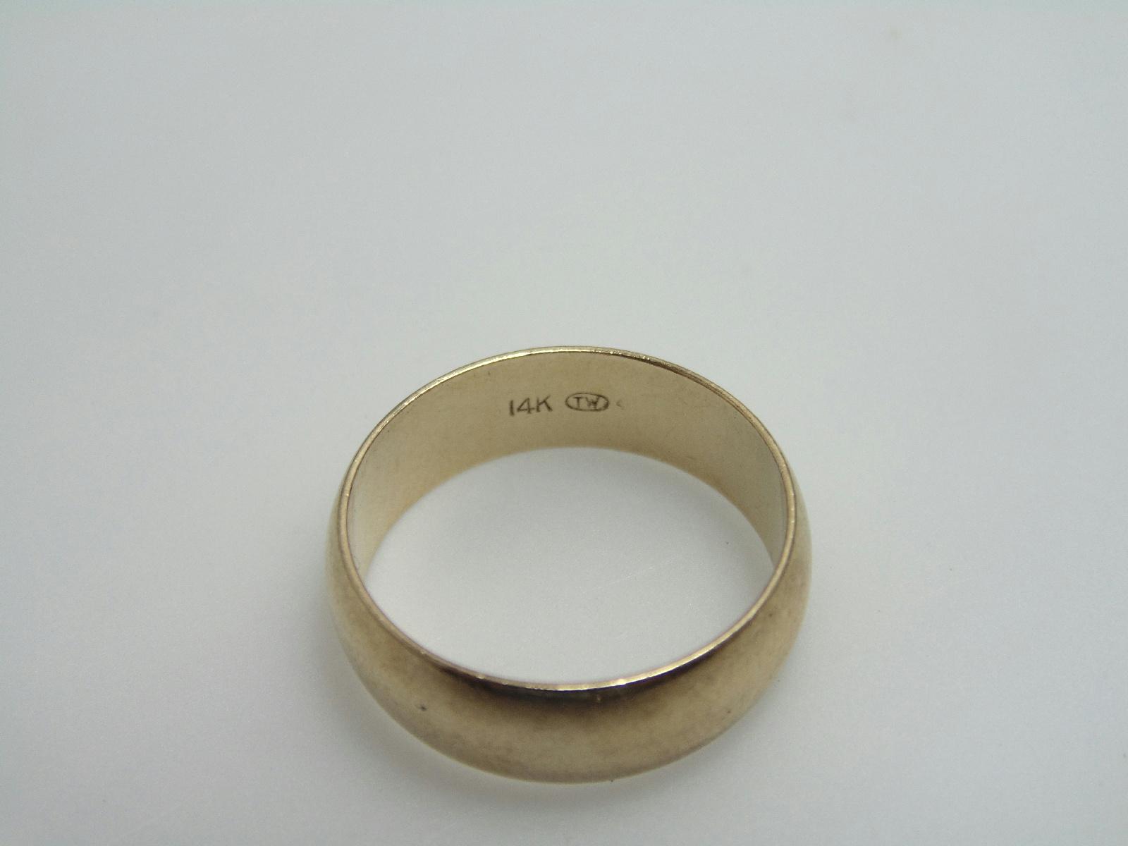 14k yellow gold jewelry thick wedding band plain ring sz 6 5