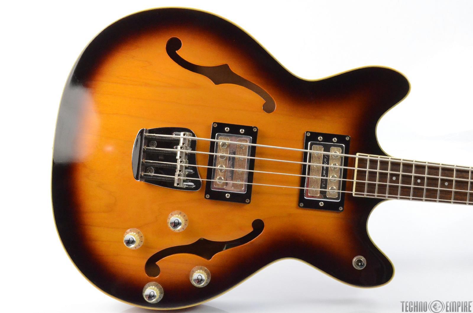 dearmond starfire semi hollow body electric bass guitar w gator case 26437 ebay. Black Bedroom Furniture Sets. Home Design Ideas