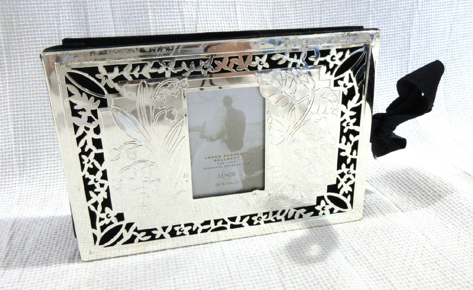 lenox portrait gallery  u0026quot our wedding u0026quot  silver photo album 4x6
