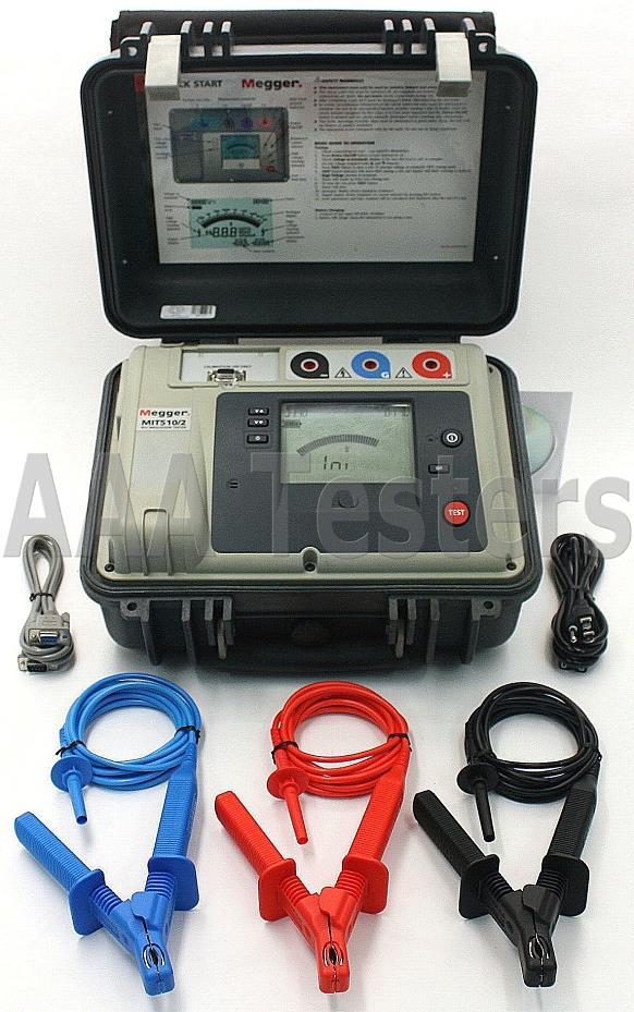 Cable Resistance Tester : Megger mit kv high voltage insulation resistance