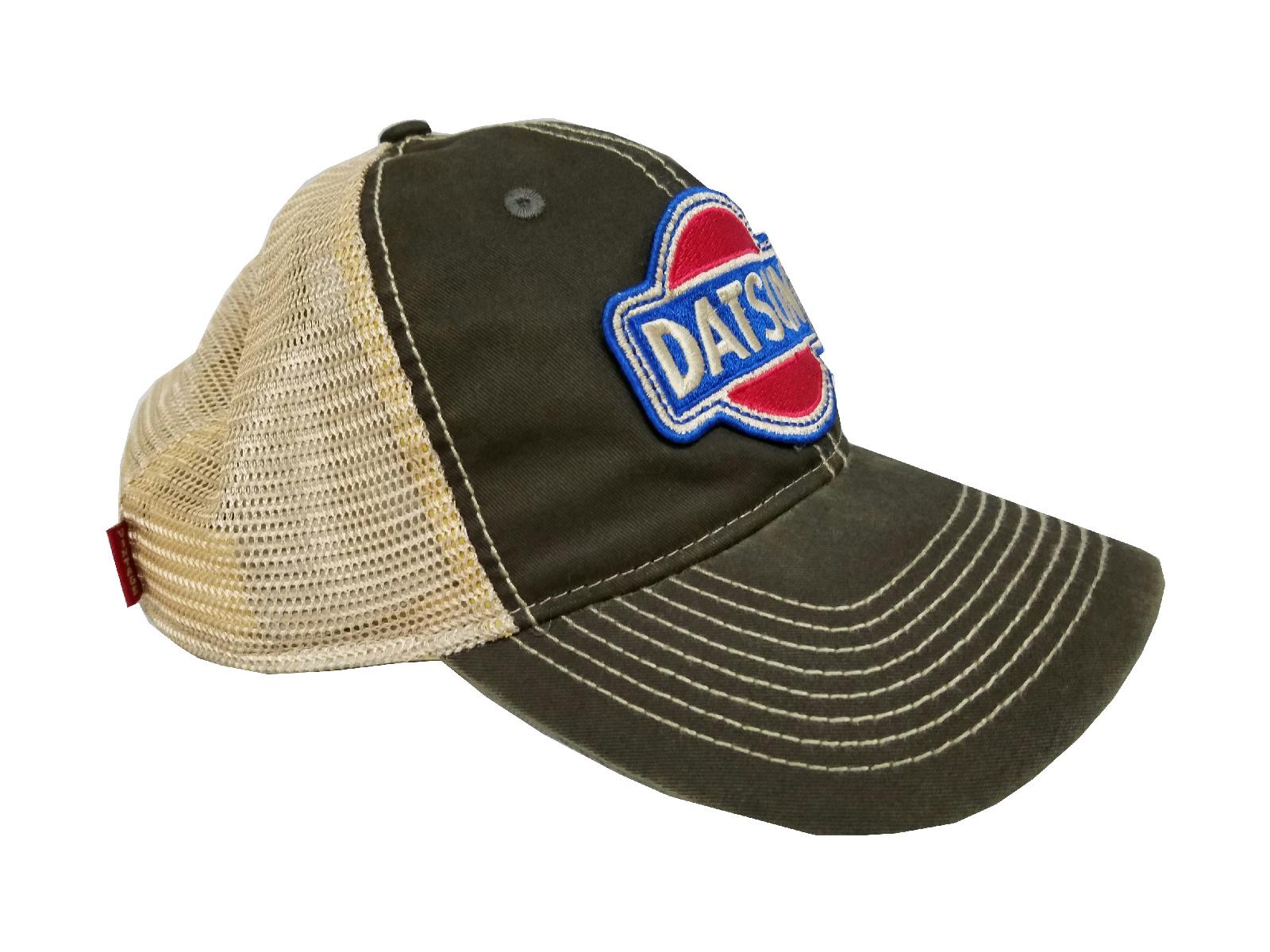 12f8db0d65d Vintage Datsun Tea-Stained Mesh Snapback Cap (Black)