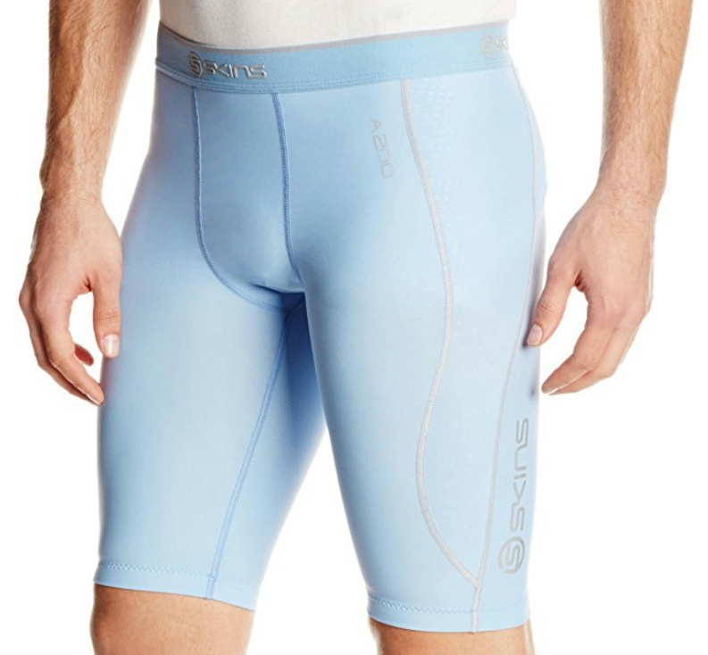 26736575b2 Skins A200 Men's Compression Half Tights Sky Blue XXL | eBay